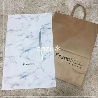 Francfranc - フランフラン ショップ袋 ラッピング袋 リボン 3点