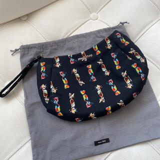 miumiu - ミュウミュウ miumiu ポーチ キャンディ 黒 リストレット クラッチバッグ