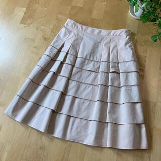 ANAYI - ANAYI アナイ ひざ丈フレアスカート ピンクベージュ 38 M 日本製