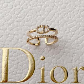 Dior - 大人気♡ロゴリング ラインストーン✨
