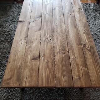 90✕54 ローテーブル ウォールナット 無垢材 天然木 アンティーク 木製(ローテーブル)
