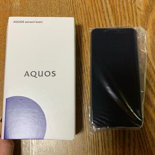 アクオス(AQUOS)の(UQ)AQUOS sense3 basic ブラック(スマートフォン本体)