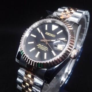 カスタムmod フルーテッドベゼル 37mm 小傷有り NH35 機械式腕時計