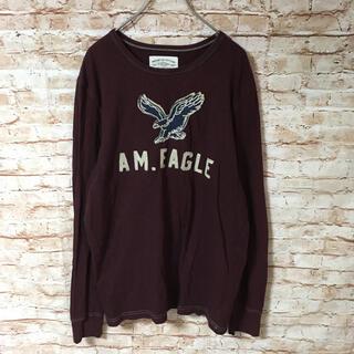 アメリカンイーグル(American Eagle)のアメリカンイーグルアウトフィッターズ メンズ Tシャツ カットソー 長袖 ロゴ(Tシャツ/カットソー(半袖/袖なし))