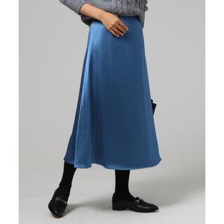 アンタイトル(UNTITLED)の1回のみ着用 UNTITLED ルフレジュープフレアスカート 美品(ロングスカート)