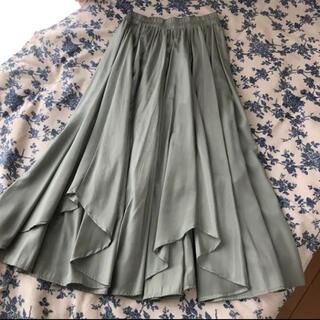 snidel - 美品 シャイニーイレヘムロングスカート