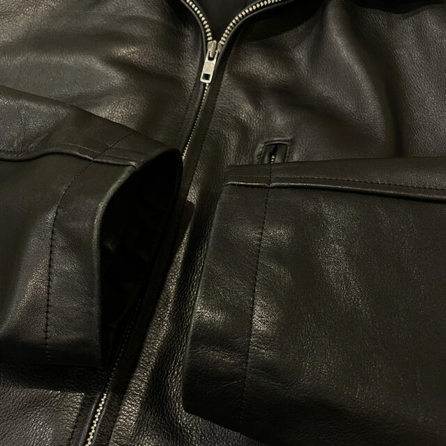 Yohji Yamamoto(ヨウジヤマモト)の  ヨウジヤマモト ジップアップレザーオーバージャケット 【1765】 メンズのジャケット/アウター(レザージャケット)の商品写真