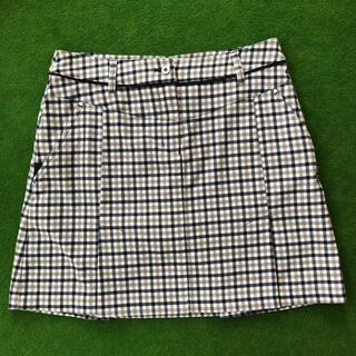 Munsingwear - マンシングウェア 膝丈スカート 9号 チェック  ゴルフウェア レディース