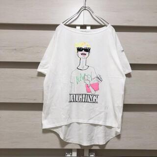 AMERICANA - 【AMERICANA 】アメリカーナ 蛍光カラー イラストtシャツ