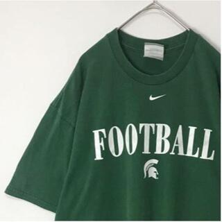 NIKE - 【人気カラー】古着 NIKE Tシャツ スウォッシュロゴ 濃い緑色