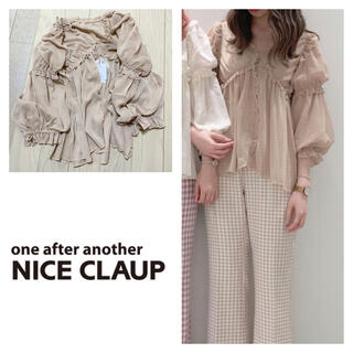one after another NICE CLAUP - 新品 ナイスクラップ  シアーフリル羽織