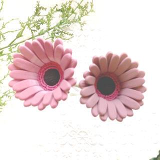 ガーベラ クレイフラワー ピンク 2本セット 造花(その他)