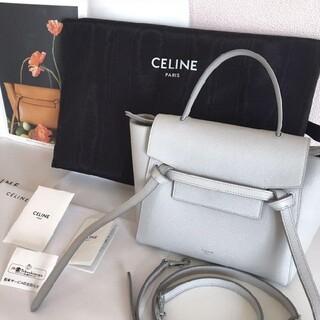 celine - セリーヌ ベルトバッグ ナノ ミネラル 百貨店購入