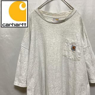 carhartt - Carhartt カーハート 肉厚 Tシャツ 刺繍ロゴ 霜降りグレー XXL