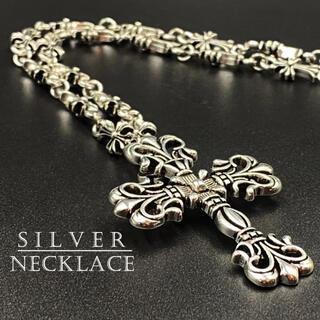 ネックレス クロス デザイン シルバー アクセサリー 十字架 274A F