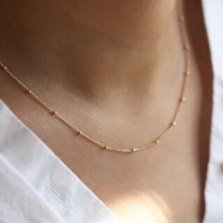 アメリヴィンテージ(Ameri VINTAGE)の【再入荷】dot chain necklace * gold(ネックレス)