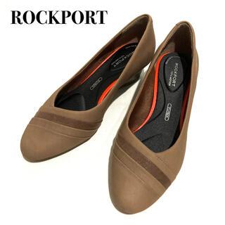 ロックポート(ROCKPORT)の【新品】ROCKPORT ロックポート レザーパンプス ブラウン 22.5cm(ハイヒール/パンプス)