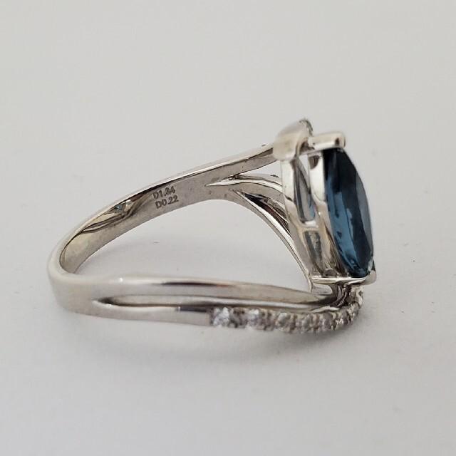 さくら様専用ページ!!ロンドンブルートパーズのダイヤモンドリング レディースのアクセサリー(リング(指輪))の商品写真
