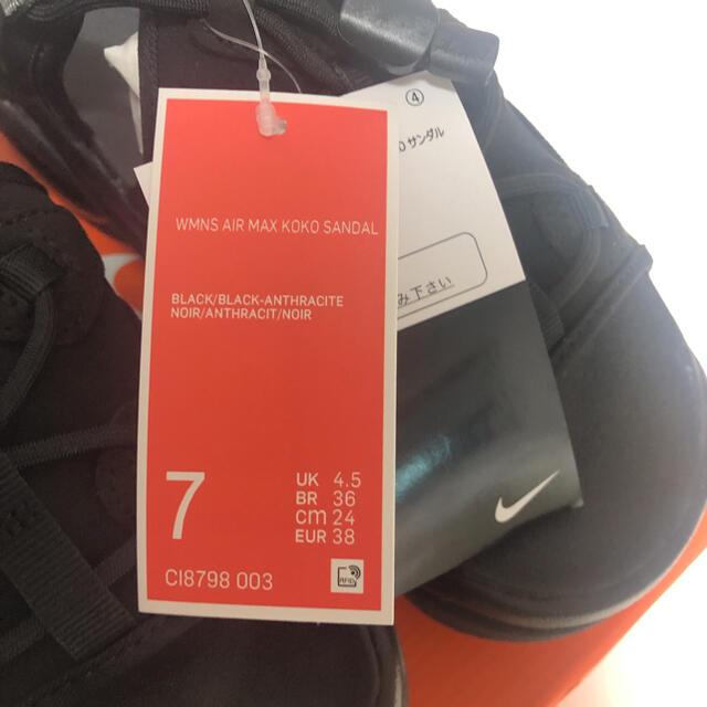 NIKE(ナイキ)のNIKE エアマックスココ ブラック 24cm レディースの靴/シューズ(サンダル)の商品写真