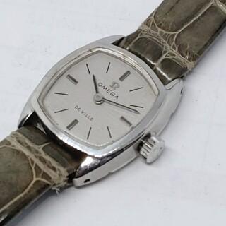 オメガ(OMEGA)の【正規品】オメガ デビル シルバー文字盤 レディース 手巻き スクエア 腕時計(腕時計)