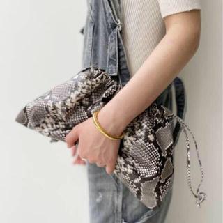 L'Appartement DEUXIEME CLASSE - 【GOOD GRIEF!/グッドグリーフ】Python Clutch Bag