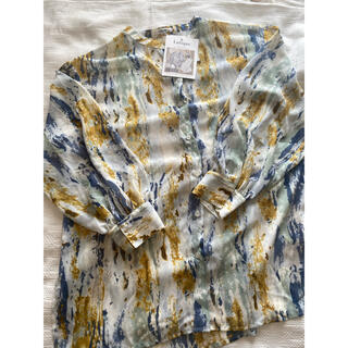 しまむら - しまむら ニュアンス柄 シアーシャツ