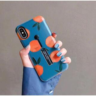iPhoneケース iPhone8 オレンジ ベルト付
