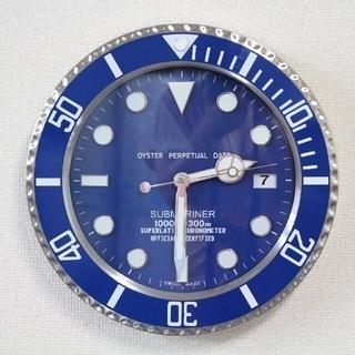 インスタ大人気❣️ 壁掛け時計 グリーン インテリア サブマリーナ 風 時計