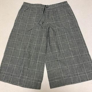ムジルシリョウヒン(MUJI (無印良品))の無印良品 パンツ リネン コットン チェック(カジュアルパンツ)