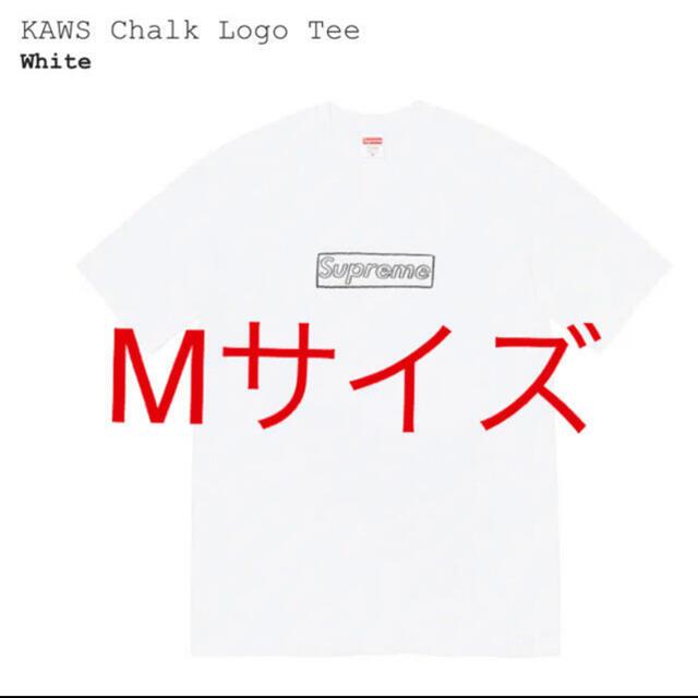 Supreme(シュプリーム)のsupreme kaws chalk logo tee 白 M メンズのトップス(Tシャツ/カットソー(半袖/袖なし))の商品写真