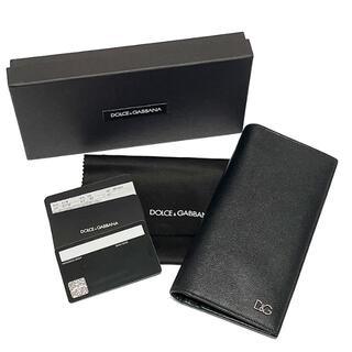 DOLCE&GABBANA - DOLCE&GABBANA ドルガバ 長財布 ブラック メンズ D&G 黒