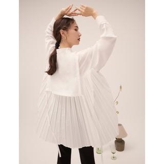 8/1迄限定価格*RANDEBOO  Pleats cape shirts(シャツ/ブラウス(長袖/七分))