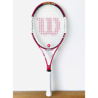 ウィルソン(wilson)の【新品同様】ウィルソン『Nコード シックスワン95』テニスラケット/G2/レッド(ラケット)