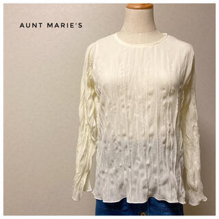 アントマリーズ(Aunt Marie's)の透け感とクシュクシュ感がオシャレなブラウス(シャツ/ブラウス(長袖/七分))