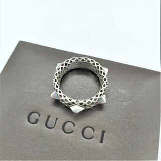 Gucci - GUCCI グッチ ディアマンテ スタッズ リング シルバー SV925