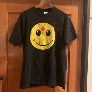 ぶち抜きスマイル Tシャツ 90s