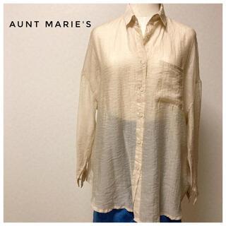 アントマリーズ(Aunt Marie's)の羽織にも使えて便利!ベージュのシャツ(シャツ/ブラウス(長袖/七分))