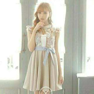 dazzy store - 明日花キララちゃん着用 くすみカラー ドレス ワンピース フロントレース キャバ