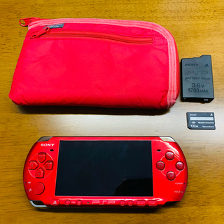 PlayStation Portable - バッテリー付き psp-3000 ラディアントレッド