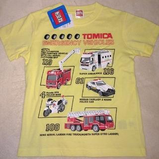 Takara Tomy - トミカ 半袖Tシャツ 110センチ イエロー
