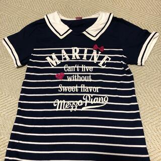 メゾピアノ(mezzo piano)のメゾピアノ 半袖カットソー サイズM 150cm(Tシャツ/カットソー)