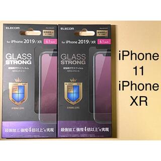 エレコム(ELECOM)の2点 iPhone 11 / XR 強化ガラス フィルム セラミックコート(保護フィルム)
