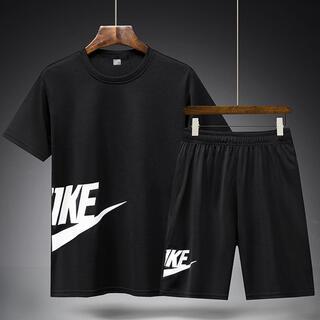 Tシャツ メンズ ジャージセットスポーツウェア上下セット夏 半袖2点セットXXL