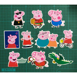 Peppa Pig ペッパピッグ  防水ステッカー シール 10枚