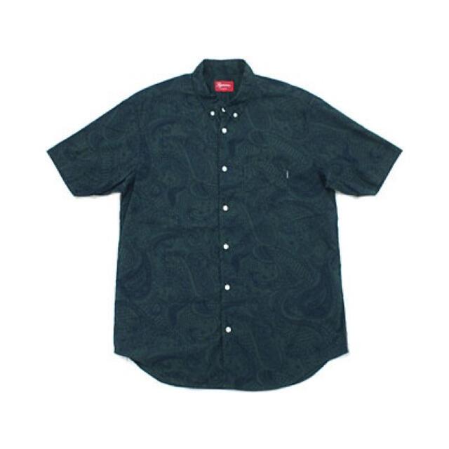 Supreme(シュプリーム)のSUPREME シュプリーム PAISLEY S/S BDシャツ 緑S美品 メンズのトップス(シャツ)の商品写真
