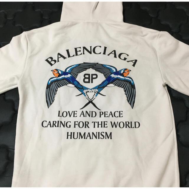 Balenciaga(バレンシアガ)のBALENCEAGA バレンシアガ フード付きパーカー L メンズのトップス(パーカー)の商品写真