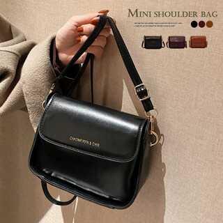 ミニバッグ レザー調 ショルダーバッグ 軽量 かわいい 小さめ 鞄 斜め掛け