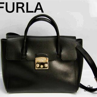 Furla - フルラ(Furla) メトロポリス サッチェル M ショルダーバッグ ブラック