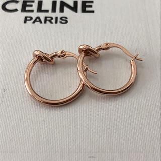 celine - セリーヌ ノット スモールフープ ピアス