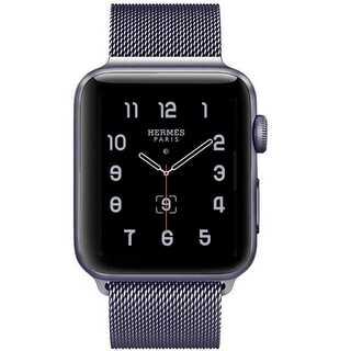 【B39】Apple Watch ミラネーゼループ38mm/40mm(グレー)(その他)